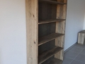 Bibliothèque bois de récuperation de grange