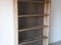 Bibliothèque bois de récupération de grange