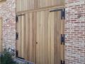 Porte de garage bois exotique