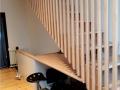 Escalier en hetre  avec bureau