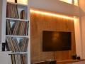 Bibliothèque et meuble tv avec électricité intégré