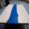 Table basse rivière bleu